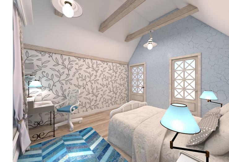 Camera da letto in stile in stile Rustico di Студия Маликова
