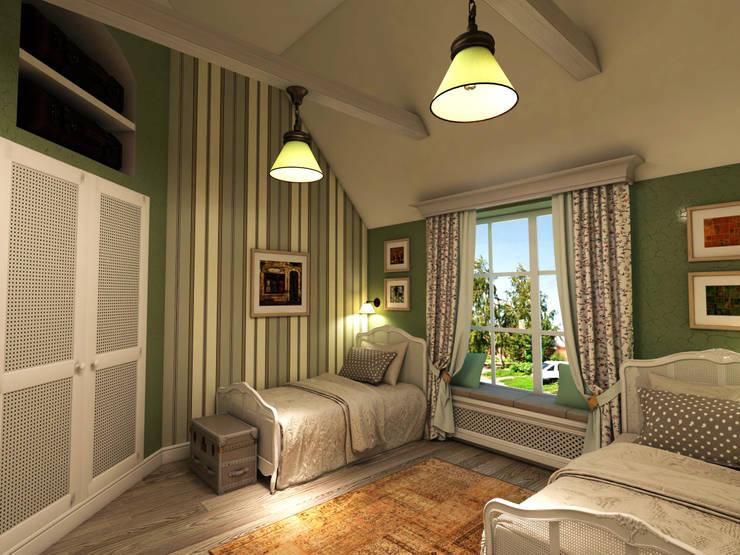 Projekty,  Sypialnia zaprojektowane przez Студия Маликова