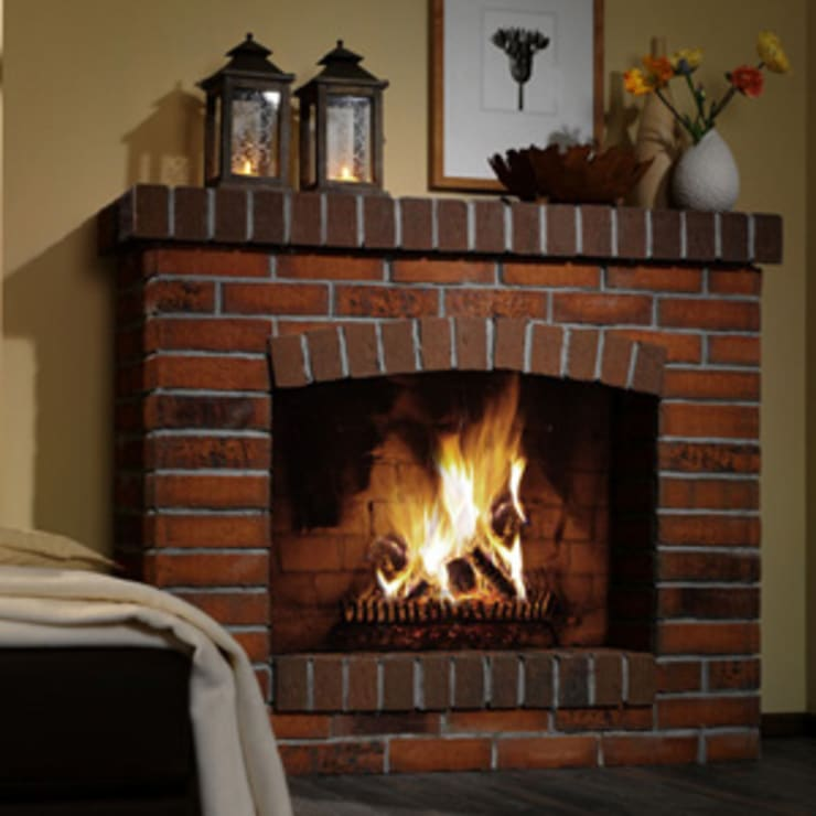 Fire place:  Living room by Fourways ML - The Brick Panels