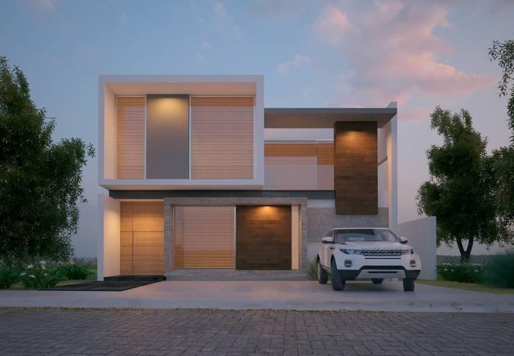 SIMPLICIDAD Y DISTINCION: Casas de estilo  por SYD CONSTRUCTORES