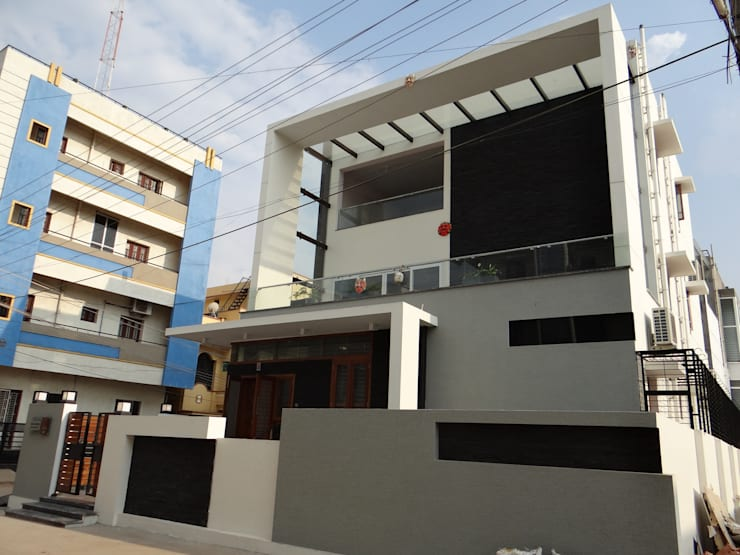 Residence of Mr.Shyam: modern Houses by Hasta architects