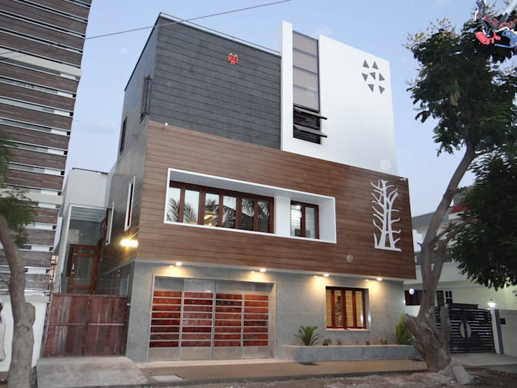 West Elevation: modern Houses by Hasta architects