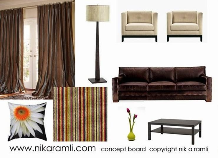 Mood Board:  Living room by Nik A Ramli Interior Design