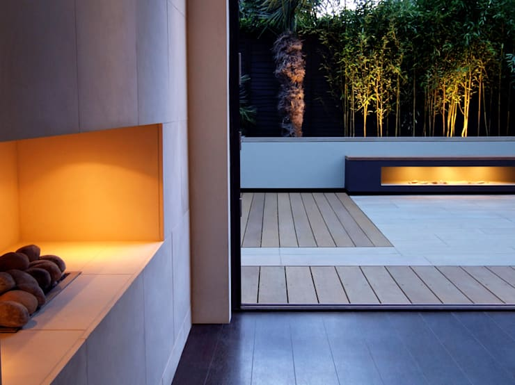 Minimalist bench:  Garden by MyLandscapes Garden Design
