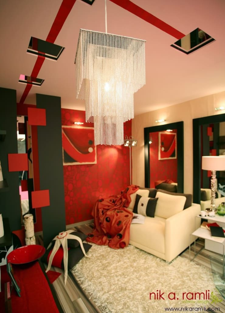 Shhh... Seduction:  Living room by Nik A Ramli Interior Design