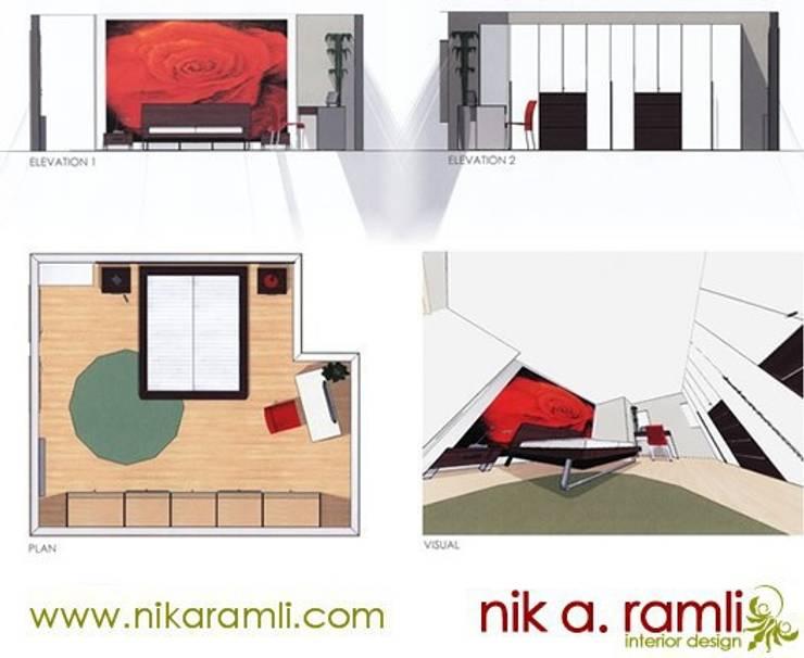 Sleeping Beauty:  Bedroom by Nik A Ramli Interior Design