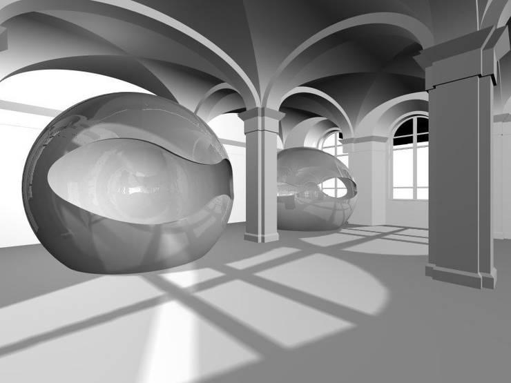 Art Hotel: Hotel in stile  di laboratorio di architettura - gianfranco mangiarotti, Eclettico