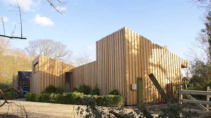 Pond House_Passive House (Passivhaus):  Houses by Forrester Architects