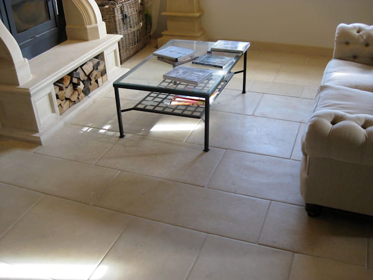 Trajan Stone Limestone Floor:  Walls & flooring by Trajan Stone