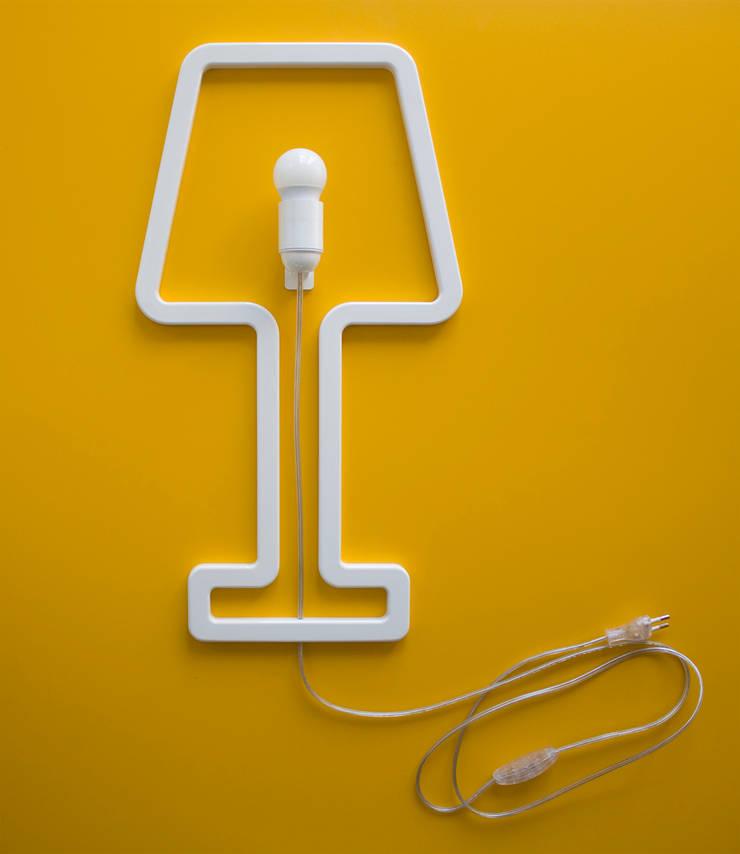 ColoredSHAPE - wall lamp: Camera da letto in stile  di Sabrina Fossi Design