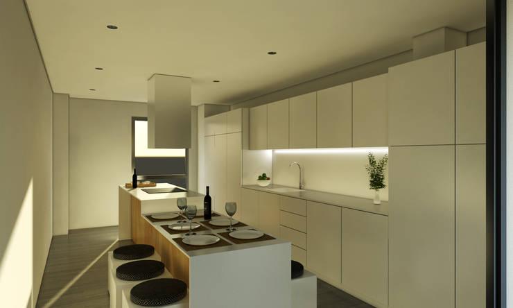 Vivienda SL: Cocinas de estilo moderno de Binomio Estudio