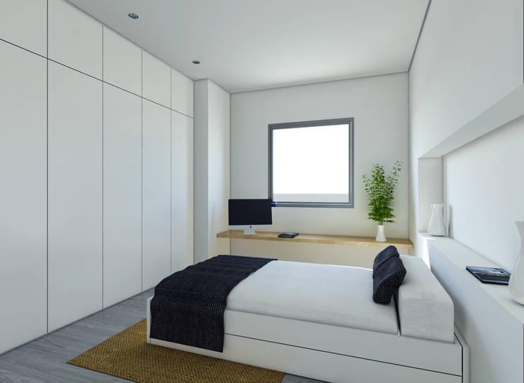 Vivienda SL: Dormitorios de estilo  de Binomio Estudio