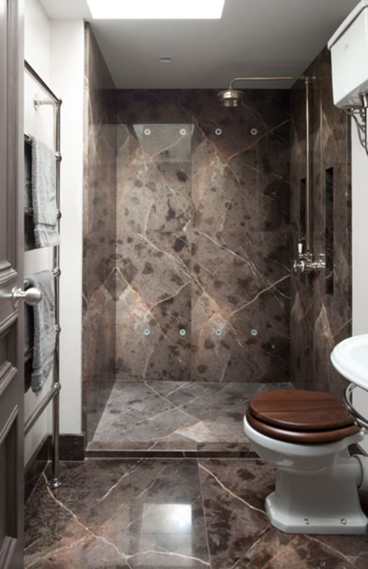 Gilston Road, Mendip shower room:  Bathroom by Britannicus Stone