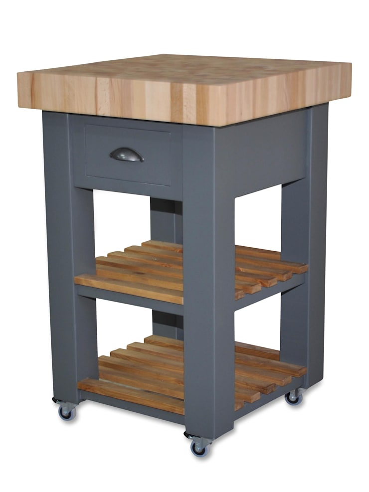 Butchers Block island - 60cm x 60cm :   by Country Interiors