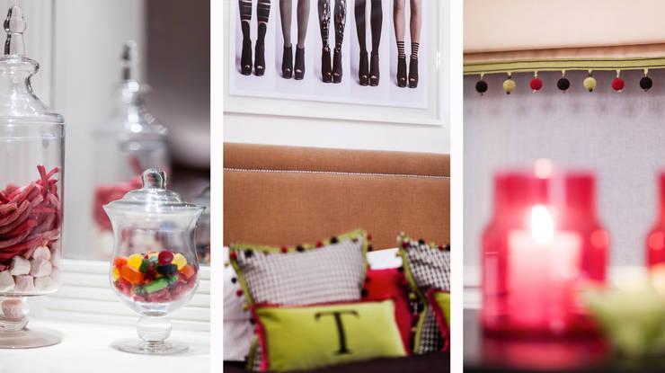 Girl's bedroom / Mayfair, London:  Bedroom by FADI CHERRY | design studio