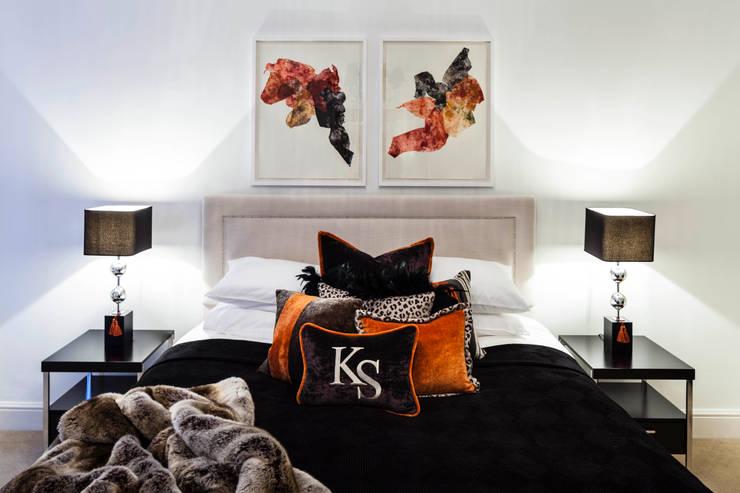 Master Bedroom/ Mayfair, London:  Bedroom by FADI CHERRY | design studio