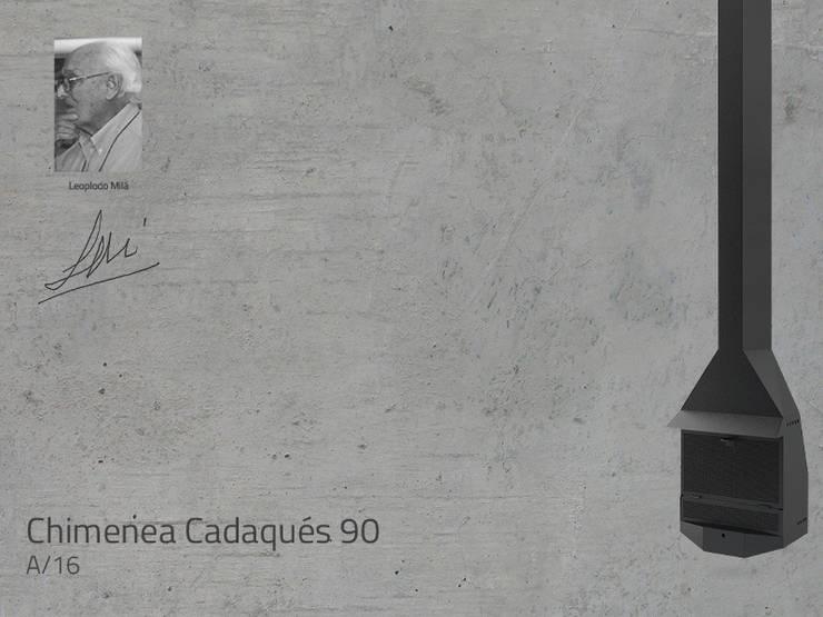Chimenea Mod. CADAQUES 90: Salones de estilo  de DAE chimeneas