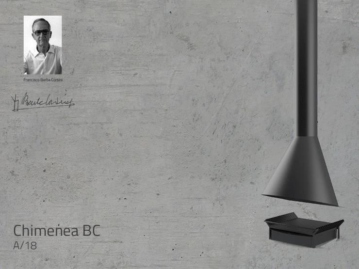 Chimenea Mod. BC: Salones de estilo  de DAE chimeneas