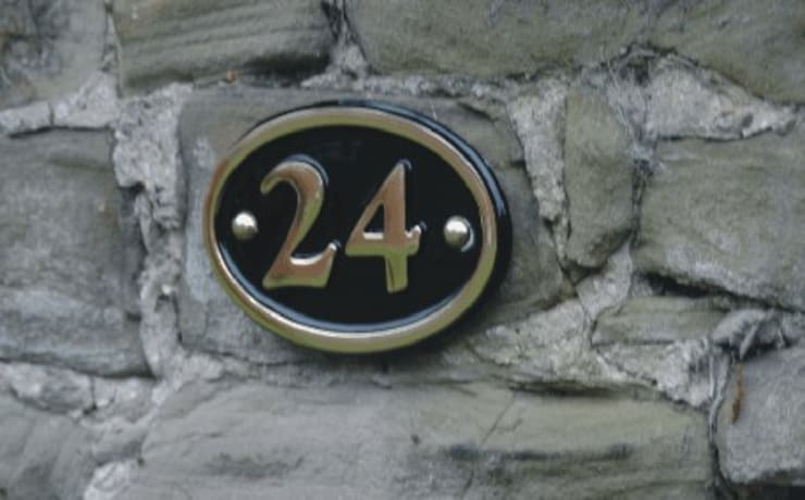 Brass house number:  Corridor, hallway & stairs by The House Nameplate Company