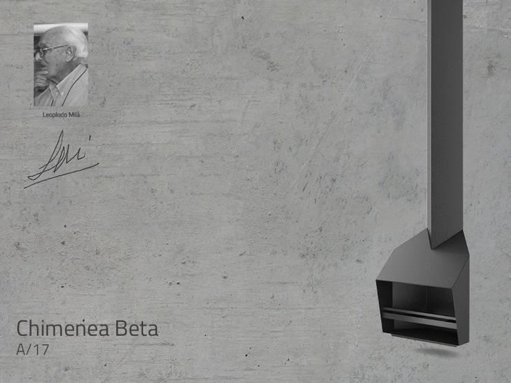 Chimenea Mod. BETA: Salones de estilo  de DAE chimeneas