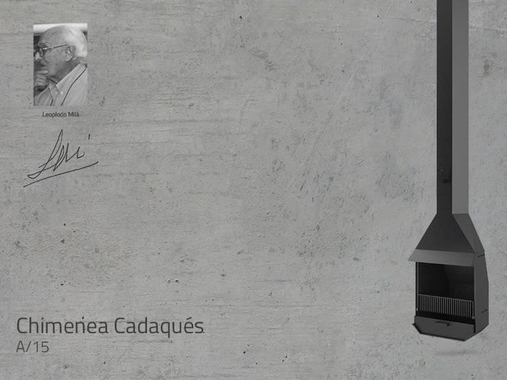 Chimenea Mod. CADAQUES: Salones de estilo  de DAE chimeneas