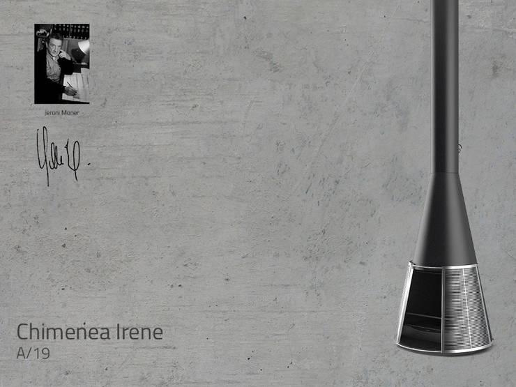 Chimenea Mod. IRENE: Salones de estilo  de DAE chimeneas