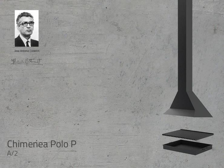 Chimenea Mod. POLO P: Salones de estilo  de DAE chimeneas