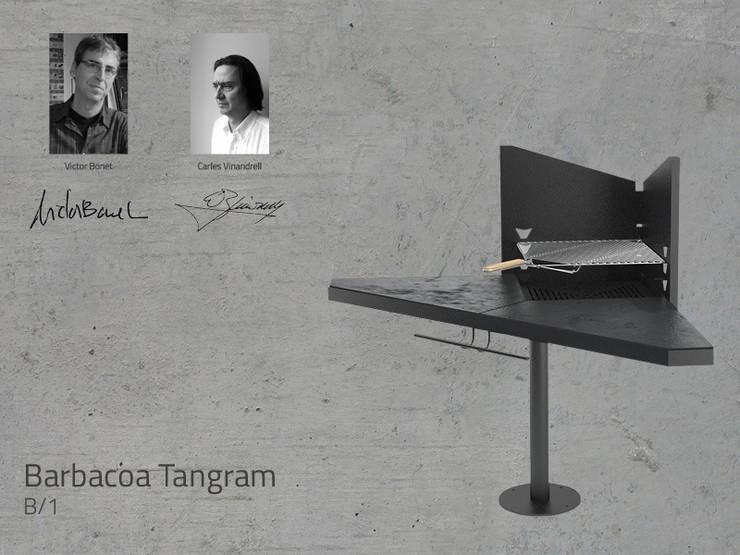 Barbacoa Mod. TANGRAM: Jardín de estilo  de DAE chimeneas