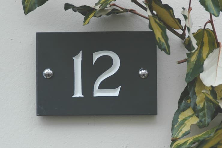 Slate House Signs:   by The House Nameplate Company