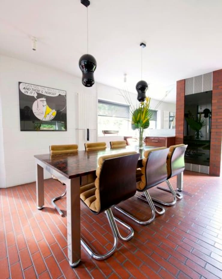 Modernist townhouse renovation & redesign:  Dining room by WALK INTERIOR ARCHITECTURE + DESIGN