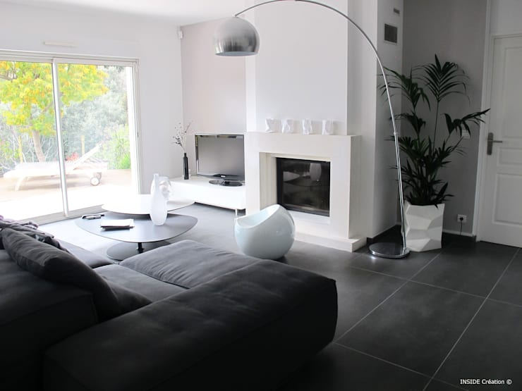 modern Living room by INSIDE Création