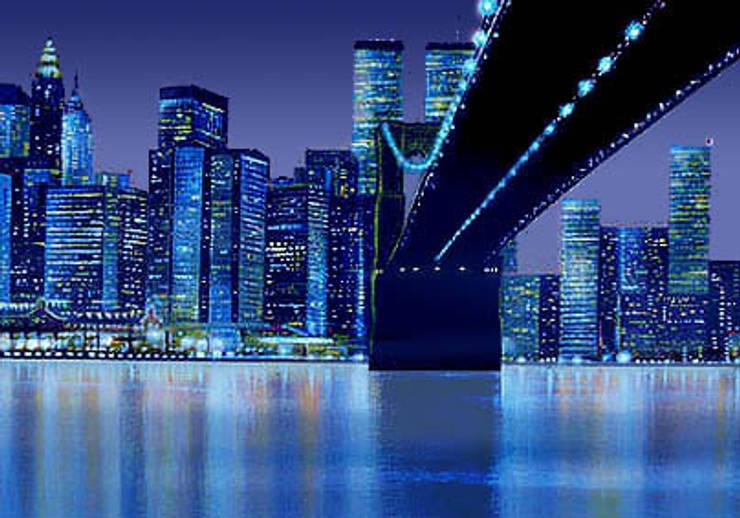 Panoramiques fluorescents sur le thème de la Ville Lumière: Art de style  par Atelier Frederic Gracia