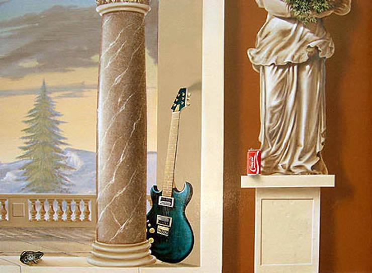 trompe l'oeil: Maisons de style de style Classique par Atelier Frederic Gracia