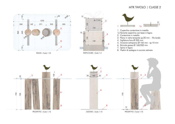 Concorso Tra le Briccole di Venezia | MTR Tavolo: Sala da pranzo in stile  di Alessandra Gritti Architetto,