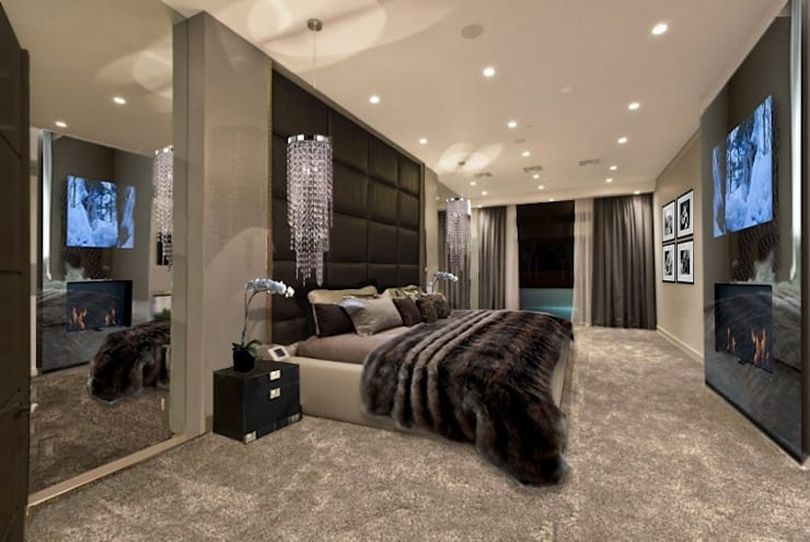 GLAMOUR BEDROOM:  Bedroom by The Interior Design Studio