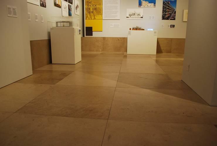 RIBA Gallery, Hopton Wood flooring:  Walls & flooring by Britannicus Stone