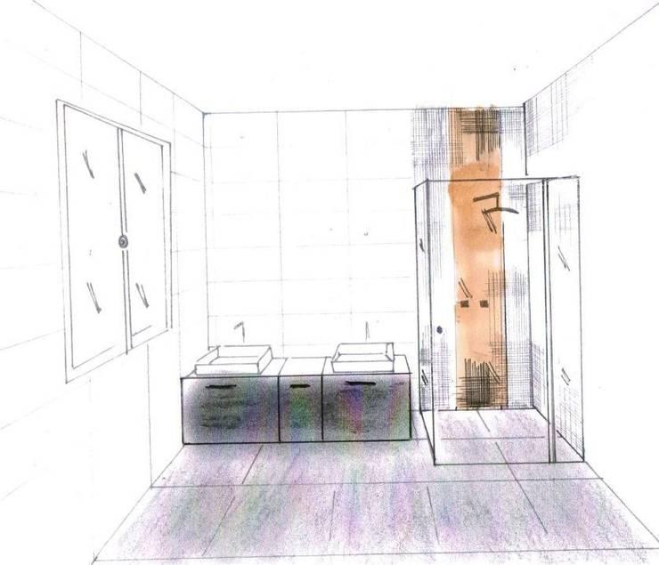 Escaliers et salles de bain:  de style  par Interieurs Autrement