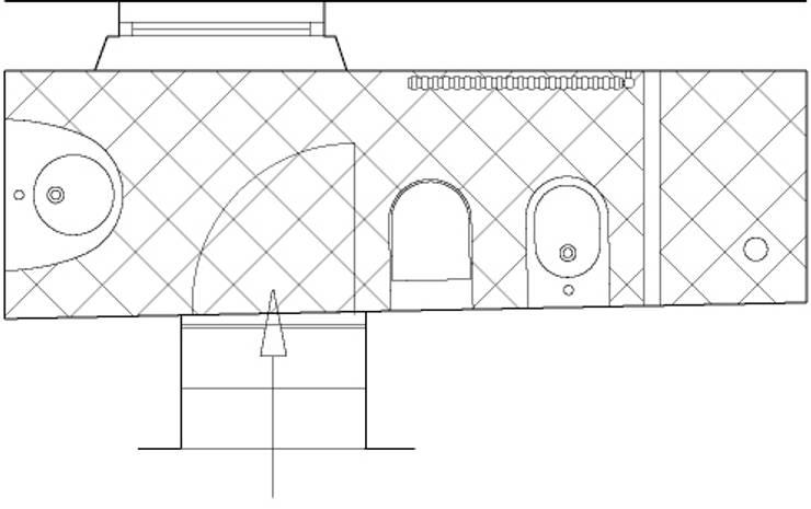 bagno 1: Bagno in stile in stile Moderno di CHRISTIAN THEILL DESIGN