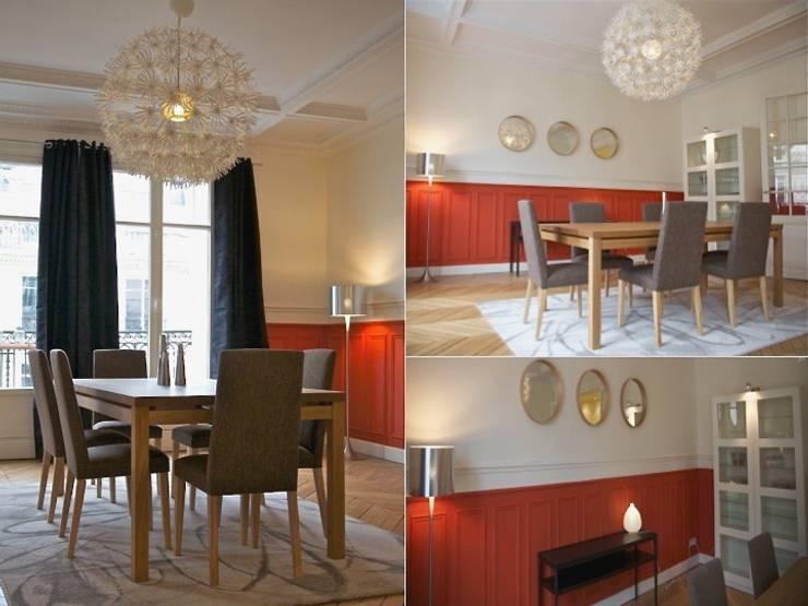 Salle à manger appartement haussmannien: Salle à manger de style de style Moderne par PATRICIA FRANCOIS