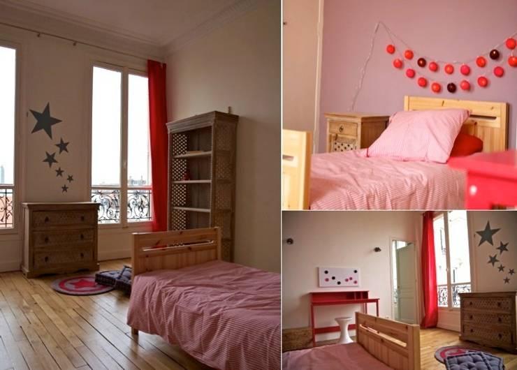 Chambre fille appartement haussmannien: Chambre d'enfant de style de style Moderne par PATRICIA FRANCOIS