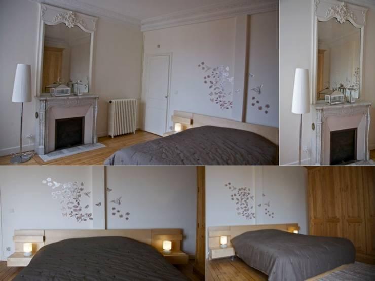 Chambre parentale appartement haussmannien: Chambre de style de style Classique par PATRICIA FRANCOIS