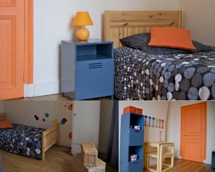 Chambre garçon appartement haussmannien: Chambre d'enfant de style  par PATRICIA FRANCOIS