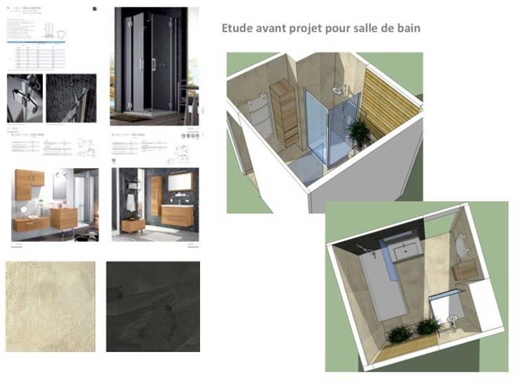 Salle de bain appartement haussmannien: Salle de bains de style  par PATRICIA FRANCOIS