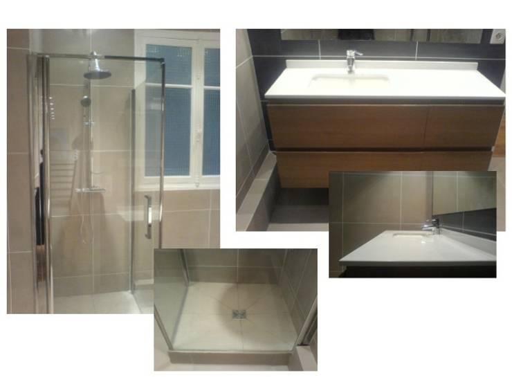 Conception et réalisation salle de bain: Salle de bain de style de style Moderne par PATRICIA FRANCOIS