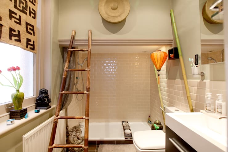 Bathroom : asian Living room by Studio D. Interiors