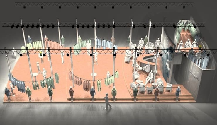 stand 1: Spazi commerciali in stile  di CHRISTIAN THEILL DESIGN, Moderno