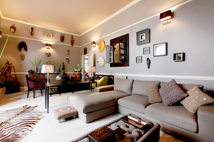 Salas de estar asiáticas por Studio D. Interiors