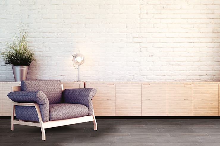 Betonwood: Pareti & Pavimenti in stile in stile Eclettico di Mosaicnet srl