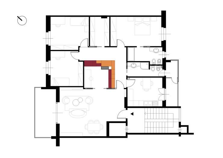 Corridor & hallway by Tramas, Modern
