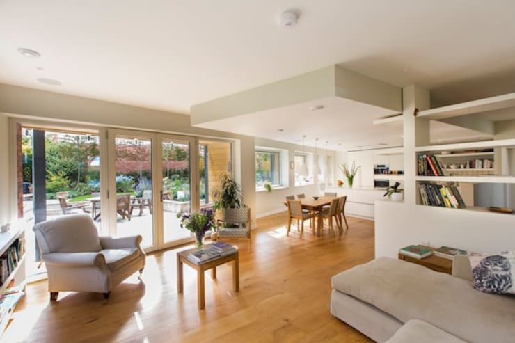 Cheltenham Passivhaus:  Living room by Seymour-Smith Architects